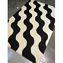 Fluffy /shaggy carpet 8ft by 11 ft-Cream&Black
