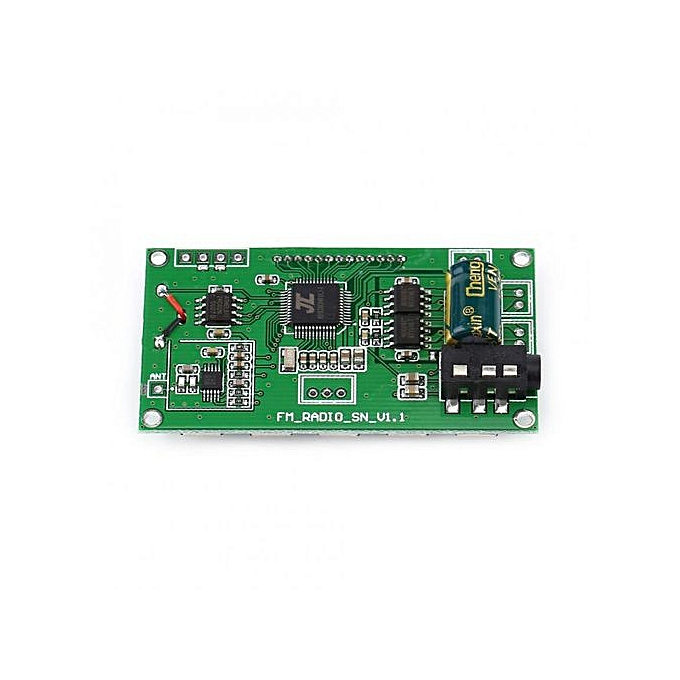 FM Receiver Module Digital Frequency Modulation Radio Receiving Board  Serial Port DIY