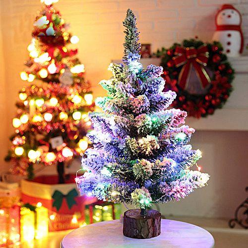 Muyi Artificial Flocking Snow Christmas Tree Led