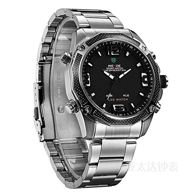 740b7f56a25c Weide Men s Watches Waterproof Watches Leisure Business Gifts Quartz ...