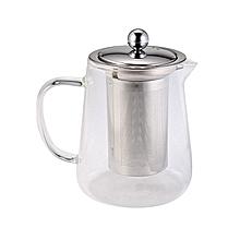 750ml Clear Glass Teapot Stainless Infuser & Lid Steeping Tea Flower Tea Pot