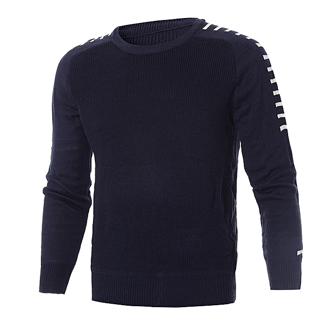 df2cb2a39bc315 Africanmall store Men Winter Long Sleeve Solid Knitted Sweater Pullover  Tops Blouse T . ...