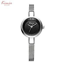 KIMIO-KMO6115 Quartz watch fashion bracelet watch fashion female form SILVER BLACK