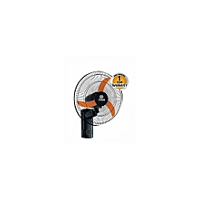 "Powerful 180° Wall Fan, 16"" MFW161/OB - Black"
