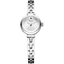 White Dial Silver Straps Watch + Free Gift Box