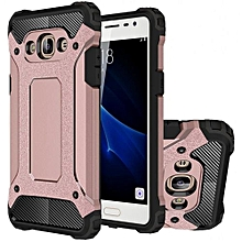 Mooncase Case For Samsung Galaxy J3 Pro Hybrid Full Body Heavy Duty Armor  Dual Layer Shock Absorbing TPU Protective Case Rose Gold
