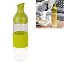 Creative Imitation Wine Bottle Glass Anti Scald Water Bottle With Filter Net(green)