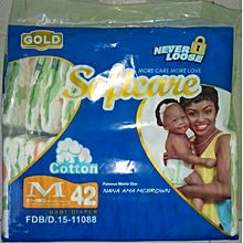 Gold Baby Diapers for Babies 6-9 Kgs, Count 42 Medium