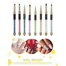bluerdream-8pcs Nail Art Tips UV Gel Crystal Acrylic Painting Drawing Pen Polish Brush Pen -Colorful