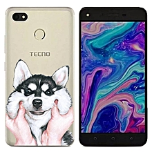 Hot TECNO WX3 Phone Case Soft TPU Back Cover Glossy Stone Silicone Silicone Clear