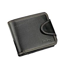 Elegant Executive Men Leather Wallet -Black