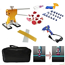 44 PCS Auto Car Metal PDR Dent Lifter-Glue Puller Tab Hail Removal Paintless Car Dent Repair Tools Kit, with 20W Glue Gun, US Plug or EU Plug