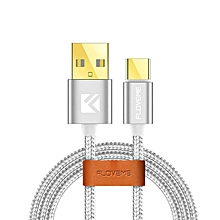 FLOVEME 2.4A 1m/3.33ft USB TYPE C Nylon Data Sync Charging Cable For Samsung S8 Huawei M9 Xiaomi 5S