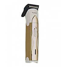 KM - 7011 Electric Rechargeable Hair Clipper Trimmer-White/Gold