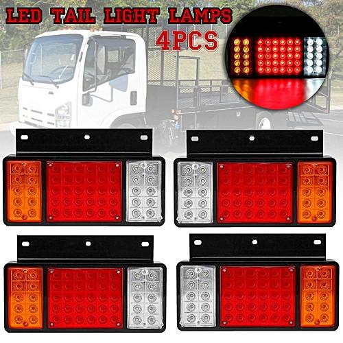 2 Pair LED Rear Tail Light Lamps For ISUZU Elf Truck NPR NKR NHR 1984-up