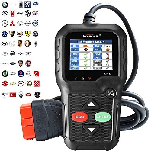 KONNWEI OBD2 Scanner, OBD Ii Diagnostic Car Code Reader Universal Check  Engine Light Diagnostic Tool CAN Vehicle Engine O2 Sensor Systems EOBD  OBDii
