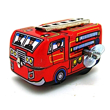 Classic Vintage Wind Up Truck Nostalgic Clockwork Children Kids Tin Toys With Key-