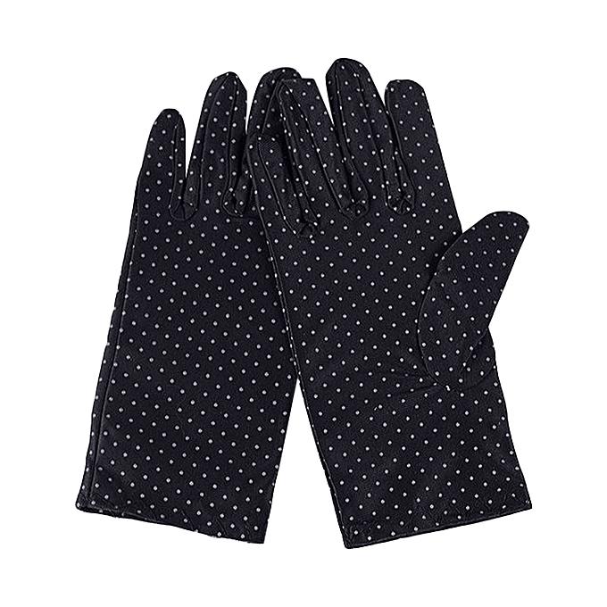 306fbe33e Fashion Summer Drive Women Sun Protection Wrist Gloves & Mittens Dot  Elastic Lady Girl Women's Gloves