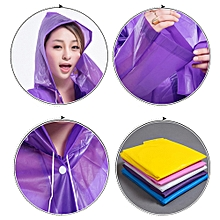 Reusable Portable Raincoats for Adults EVA Travel Camping Walking Rain Jackets Breathable Rainwear with Hood Sleeves