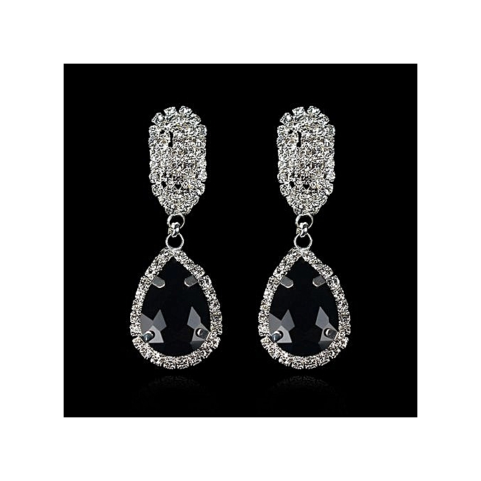 Nice Earrings For Women Luxury Drop Crystal Shiny Fashion Accessories One Pair