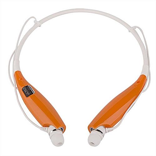 Amart Wireless Sport Bluetooth Stereo Headset Neckband Headphone In-ear Earphone Handfree  (Color:Orange)