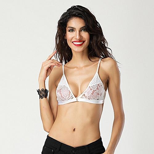 e4d406a090e81 Generic Sexy Women Lingerie Sheer Lace Bra Bustier Bralette Transparent Cup  Brassiere Crop Tank Top Black White