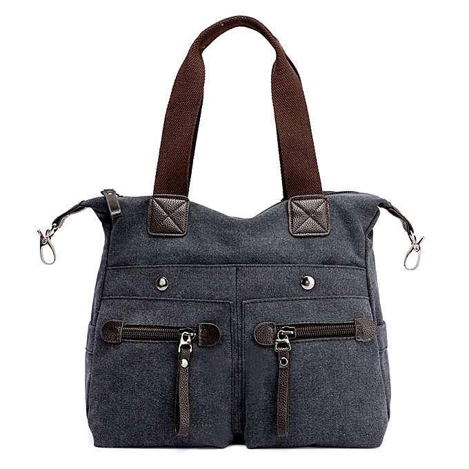 39c558659121 Fashion Women Canvas Handbag Casual Shoulder Bag Pockets Large Capacity  Vintage Crossbody Tote Travel Bag