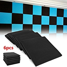 6Pcs Soundproof Acoustic Foam Wedge Studio Sound Absorption Wall Panel 50x50x5cm