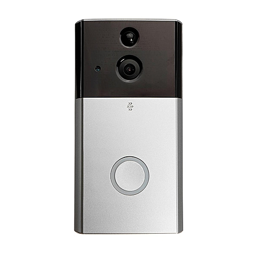 Generic 720P Waterproof Wifi Doorbell Camera Real-Time Video & Two-Way Audio 180° Wide Angle Night Vision PIR Motion Detection Wireless Ring Bell Alarm With ...