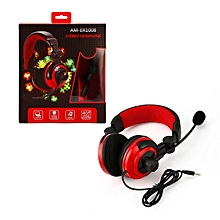 Headset Gaming Headphone for PS4 XBOX360 Crystal Stereo black&red