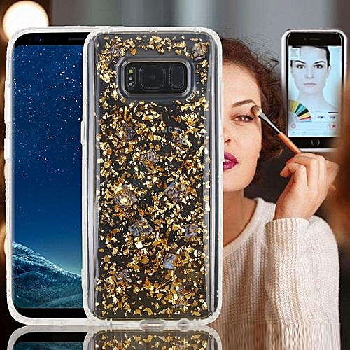 the best attitude b78b2 b3034 For Samsung Galaxy Note 8 Anti-Gravity Nano-suction Technology Dropproof  Sticky Selfie Glitter Sequins Pattern TPU Protective Back Cover Case (Gold)