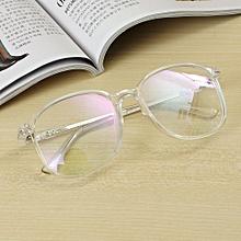 Unisex Full Rim Spectacles Transparent Eyeglass Frame Clear Glasses Eyewear  Transparent