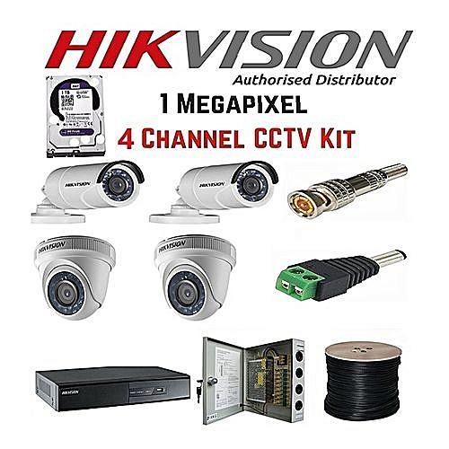 03db7bbd8 HikVision 4 channel CCTV Camera Kit   Best Price