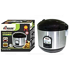 Rice Cooker 2L + FREE 6 Tablespoons -   Silver and Black