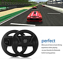 LEBAIQI 2pcs/set Racing Game Steering Wheel Remote Control For Nintendo For Switch Black