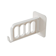 Wall-mounted seamless four-hole hanger storage hook