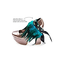 NGOMA Feather Cuff - Multi Purpose Jewellery - Turquoise Dazzle