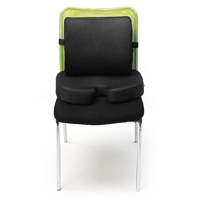 Orthopedic Seat Cushion Bundle Tailbone Lumbar Support For Office Chair