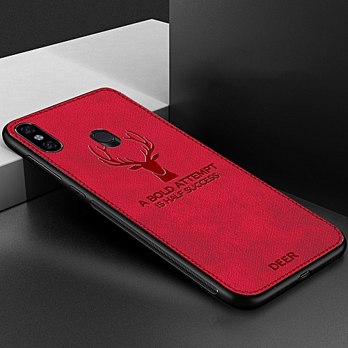 95830bd39d Generic for Redmi Note 6 Pro case Deer Cloth Phone Case For Xiaomi CASE TPU  Back Cover-Red