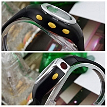 1pcs Hot Black Pulse Heart Rate Monitor Calorie Counter Stop Watch Calorie Counter Exercise Touch Sensor 6 in 1 Best Selling