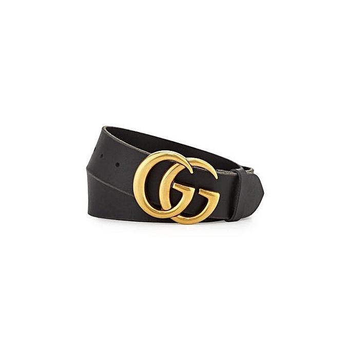 c1afe282ef7 Generic G-Style Gold Buckle Womens Belt - Black   Best Price