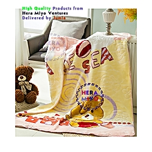 Super soft Trendy Coral Fleece Baby Blanket for Babies - Cream Theme Multicolour