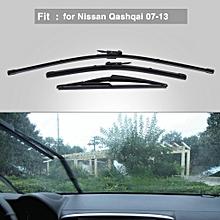 Car Front Rear Windscreen Windshield Wiper Blade 24/16/12 Inch for Nissan Qashqai 2007-2013