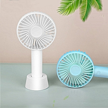 Mini Handheld Fan, Portable Rechargeable Battery Operated Small Personal Fan Desk Desktop Electric Fan For Office Home Dorm Travel Outdoor, Powerful 3 Speeds Adjustable And Cute Stand