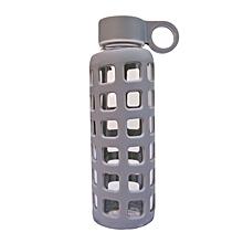 Glass Water Bottle - 350ml - Grey