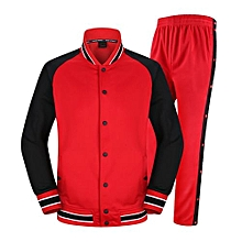 Men's Basketball Training Sports Jersey Apperance Clothing Coat Pants Uniform-Red(1201)