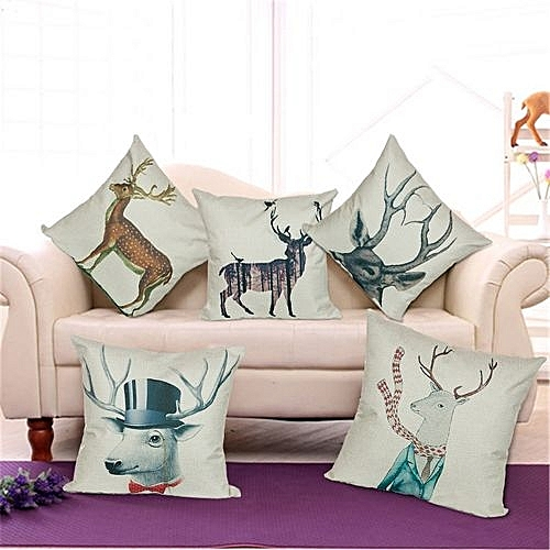 Buy Generic Cute Elk Home Decoration Pillow Cases Car Cushion Covers Impressive Decorated Pillow Cases