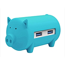 ORICO Little Pig High Speed USB 3.0 OTG HUB Adapter SD TF Card Reader For Macbook Laptop Blue