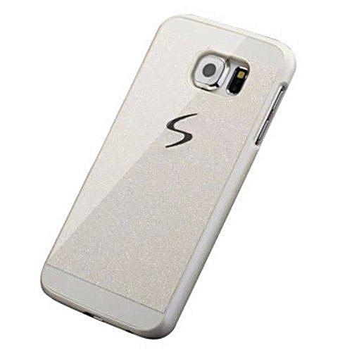 403b5ad0fd7 Generic Diamond Bling Crystal Capa Fundas Hard Flash Plastic Case  ForSamsung Galaxy S6 (White)