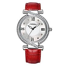 women bracelet watch rhinestone  leather strap elegant quartz wristwatch fashion leisure lady clock reloj mujer
